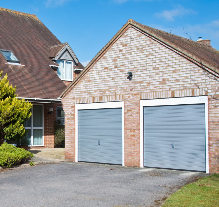Garage door lock fitting service at Bristol house